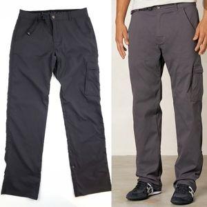 Prana Men's Zion Stretch Charcoal Hiking Pants 32L